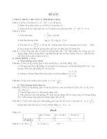 Tài liệu Đề ôn thi tốt nghiệp trung học phổ thông môn toán - Đề 47 ppt