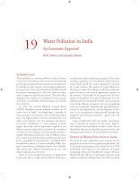 Tài liệu Water Pollution in India An Economic Appraisal ppt