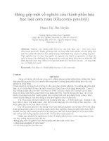 Đóng góp mới về nghiên cứu thành phần hóa học loài cơm rượu (glycomis petelotii)