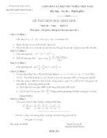 Tài liệu Đề Thi Học Sinh Giỏi Lớp 12 Toán 2013 - Phần 1 - Đề 28 docx