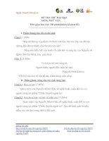 Tài liệu ĐỀ THI THỬ ĐẠI HỌC LẦN I NĂM 2013 Môn: NGỮ VĂN; KHỐI: C, D ĐỀ 23 ppt