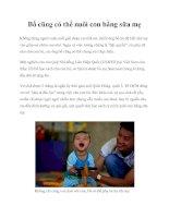 Tài liệu Bố cũng có thể nuôi con bằng sữa mẹ ppt