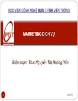 Tài liệu MARKETING DỊCH VỤ - Biên soạn: Th.s Nguyễn Thị Hoàng Yến pot