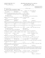 MA TRẬN ĐỀ KIỂM TRA HỌC KÌ II MÔN HOÁ 10