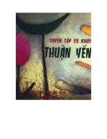 Tài liệu Tuyển tập ca khúc Thuận Yến ppt