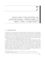 Chapter 7  machine equations in operational impedances and time constants