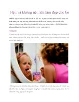 Tài liệu Nên và không nên khi làm đẹp cho bé potx