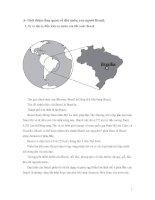 giới thiệu tổng quan về đất nước, con người brazil