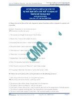 Tài liệu Luyện tập và chữa các câu về sự phù hợp giữa chủ ngữ và động từ trong đề thi đại học ( bài tập tự luyện) ppt