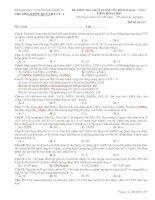 Đề thi thử ĐH đợt 1 - 2014 - môn Hóa - TRƯỜNG THPT QUỲNH LƯU 1