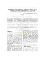Tài liệu Nghiên cứu và xây dựng quy trình xử lý nguồn nước ô nhiễm do chế biến tinh bột sắn để tái sử dụng trong sản xuất nông nghiệp tại tỉnh Kon Tum pptx