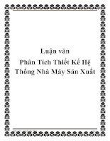 Tài liệu Luận văn Phân Tích Thiết Kế Hệ Thống Nhà Máy Sản Xuất pptx