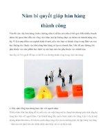 Tài liệu Năm bí quyết giúp bán hàng thành công potx