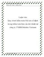Tài liệu Luận văn: Quy trình kiểm toán Tài sản cố định trong kiểm toán báo cáo tài chính tại công ty TNHH Deloitte Vietnam docx