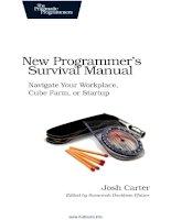 Tài liệu New Programmer's Survival Manual pdf