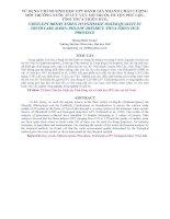 Tài liệu SỬ DỤNG CHỈ SỐ SINH HỌC EPT ĐÁNH GIÁ NHANH CHẤT LƯỢNG MÔI TRƯỜNG NƯỚC Ở LƯU VỰC HỒ TRUỒI, HUYỆN PHÚ LỘC, TỈNH THỪA THIÊN HUẾ pptx