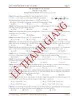 Luyện Thi Đại Học Vật Lý có đáp án giải chi tiết- đề 4