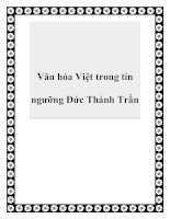 Tài liệu Văn hóa Việt trong tín ngưỡng Đức Thánh Trần pptx