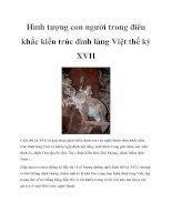 Tài liệu Hình tượng con người trong điêu khắc kiến trúc đình làng Việt thế kỷ XVII pptx