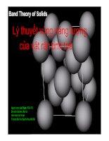 Tài liệu Lý thuyết vùng năng lượng của vật rắn tinh thể pot