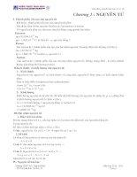 Tài liệu Tóm tắt lý thuyết hoá học vô cơ 10 Chương 1 : NGUYÊN TỬ doc