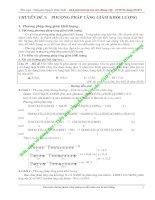 Tài liệu CHUYÊN ĐỀ 5: PHƯƠNG PHÁP TĂNG GIẢM KHỐI LƯỢNG pdf