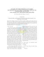 Tài liệu Sử dụng chế phẩm phân bón lá Fito-humat và phân bón hữu cơ vi sinh Fitohoocmon trên cây lúa tại Phú Xuyên - Hà Tây (cũ) theo hướng phát triển nông nghiệp bền vững ppt