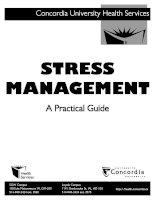 Tài liệu STRESS MANAGEMENT A PRACTICAL GUIDE ppt