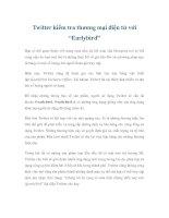 """Tài liệu Twitter kiểm tra thương mại điện tử với """"Earlybird"""" pptx"""