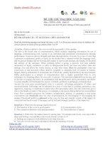 Tài liệu ĐỀ THI THỬ ĐẠI HỌC LẦN 1 NĂM 2013 Môn: Tiếng Anh ĐỀ 7 doc