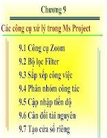 Tài liệu Các công cụ xử lý trong Ms Project doc