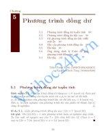 Tài liệu Chương5 Phương trình đồng dư docx
