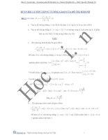 bài tập sự tương giao của đồ thị hàm số