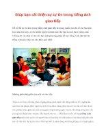 Tài liệu Giúp bạn cải thiện sự tự tin trong tiếng Anh giao tiếp potx