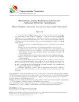 Tài liệu MECHANICAL DIGITIZING FOR PALEONTOLOGY - NEW AND IMPROVED TECHNIQUES doc