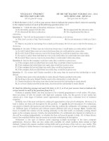 Đề thi thử đại học môn anh văn   64