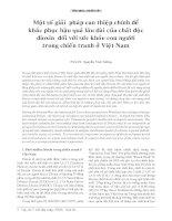 Tài liệu Một số giải pháp can thiệp chính để khắc phục hậu quả lâu dài của chất độc dioxin đối với sức khỏe con người trong chiến tranh ở Việt Nam pptx
