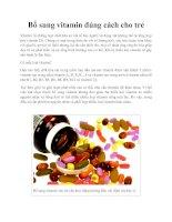 Tài liệu Bổ sung vitamin đúng cách cho trẻ docx