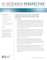 Tài liệu Ownership of Mutual Funds, Shareholder Sentiment, and Use of the Internet, 2012 pdf