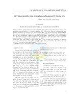 Tài liệu KẾT QUẢ NGHIÊN CỨU CHỌN LỌC GIỐNG LÚA TẺ THƠM HT6 docx