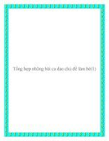 Tài liệu Những bài ca dao chủ đề làm bé chọn lọc potx