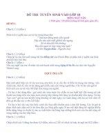 Tài liệu ĐỀ THI TUYỂN SINH VÀO LỚP 10 - Môn Ngữ Văn ppt
