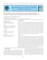 Tài liệu ẢNH HƯỞNG CỦA THUỐC BẢO VỆ THỰC VẬT FENOBUCARB ĐẾN CHOLINESTERASE Ở CÁ LÓC (CHANNA STRIATA) TRONG RUỘNG LÚA pptx