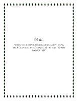 """Tài liệu Đề tài: """"Phân tích tình hình kinh doanh và đóng thuế của công ty xây dựng số 1 Hà Nội – Sở Xây dựng hà nội"""" pdf"""