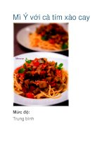 Tài liệu Mì Ý với cà tím xào cay doc