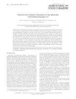 THÀNH PHẦN hợp CHẤT AXÍT béo và CAROTENOID của gấc   fatty acid and carotenoid composition of gac (momordica cochinchinensisspreng) fruit