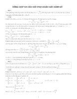 Tổng hợp 50 câu hỏi phụ khảo sát hàm số có lời giải chi tiết