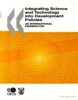 Tài liệu integrating science technology into development policies an international pdf