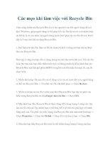 Tài liệu Các mẹo khi làm việc với Recycle Bin pdf