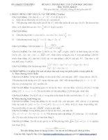 Tài liệu Tổng hợp đề thi thử ĐH môn Toán các khối Đề 52 doc